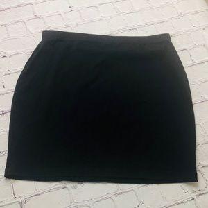 ASOS stretch black mini skirt size 8